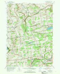 Duanesburg New York Historical topographic map, 1:24000 scale, 7.5 X 7.5 Minute, Year 1954