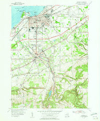 Dunkirk New York Historical topographic map, 1:24000 scale, 7.5 X 7.5 Minute, Year 1954