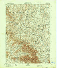 Durham New York Historical topographic map, 1:62500 scale, 15 X 15 Minute, Year 1894