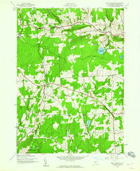 East Pharsalia New York Historical topographic map, 1:24000 scale, 7.5 X 7.5 Minute, Year 1943