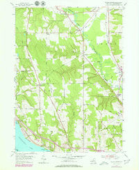 Ellery Center New York Historical topographic map, 1:24000 scale, 7.5 X 7.5 Minute, Year 1954