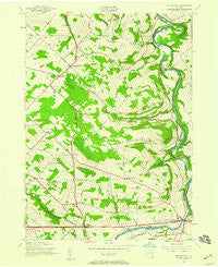 Esperance New York Historical topographic map, 1:24000 scale, 7.5 X 7.5 Minute, Year 1943