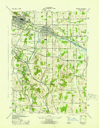 Fairport New York Historical topographic map, 1:31680 scale, 7.5 X 7.5 Minute, Year 1943