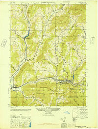 Fleischmanns New York Historical topographic map, 1:24000 scale, 7.5 X 7.5 Minute, Year 1946