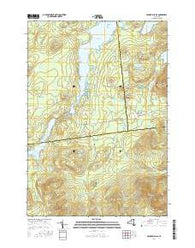 Franklin Falls New York Current topographic map, 1:24000 scale, 7.5 X 7.5 Minute, Year 2016