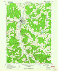 Franklinville New York Historical topographic map, 1:24000 scale, 7.5 X 7.5 Minute, Year 1963