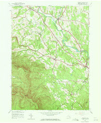 Freehold New York Historical topographic map, 1:24000 scale, 7.5 X 7.5 Minute, Year 1943