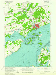 Gananoque Ontario Historical topographic map, 1:24000 scale, 7.5 X 7.5 Minute, Year 1958