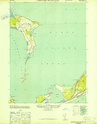 Gardiners Island East New York Historical topographic map, 1:24000 scale, 7.5 X 7.5 Minute, Year 1943