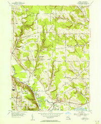 Gerry New York Historical topographic map, 1:24000 scale, 7.5 X 7.5 Minute, Year 1954