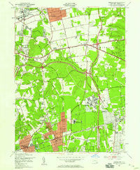 Greenlawn New York Historical topographic map, 1:24000 scale, 7.5 X 7.5 Minute, Year 1954