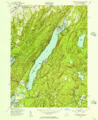 Greenwood Lake New York Historical topographic map, 1:24000 scale, 7.5 X 7.5 Minute, Year 1954