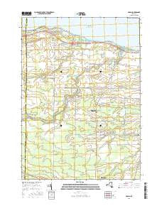 Hamlin New York Current topographic map, 1:24000 scale, 7.5 X 7.5 Minute, Year 2016