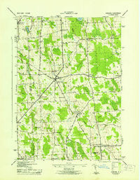 Hannibal New York Historical topographic map, 1:31680 scale, 7.5 X 7.5 Minute, Year 1943