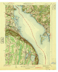 Haverstraw New York Historical topographic map, 1:31680 scale, 7.5 X 7.5 Minute, Year 1943