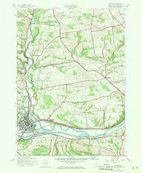 Herkimer New York Historical topographic map, 1:24000 scale, 7.5 X 7.5 Minute, Year 1943