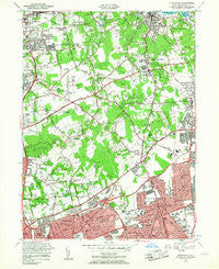 Hicksville New York Historical topographic map, 1:24000 scale, 7.5 X 7.5 Minute, Year 1954
