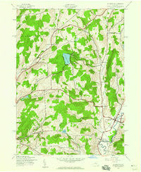Holmesville New York Historical topographic map, 1:24000 scale, 7.5 X 7.5 Minute, Year 1943