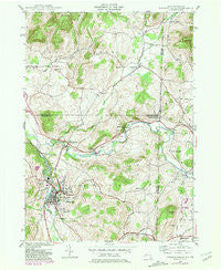 Hoosick Falls New York Historical topographic map, 1:24000 scale, 7.5 X 7.5 Minute, Year 1943