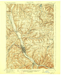 Hornell New York Historical topographic map, 1:62500 scale, 15 X 15 Minute, Year 1918