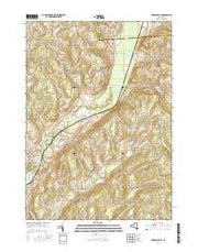 Hubbardsville New York Current topographic map, 1:24000 scale, 7.5 X 7.5 Minute, Year 2016 from New York Maps Store