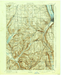 Ithaca New York Historical topographic map, 1:62500 scale, 15 X 15 Minute, Year 1895