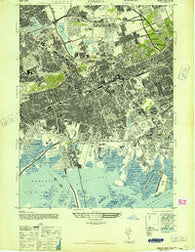 Jamaica New York Historical topographic map, 1:24000 scale, 7.5 X 7.5 Minute, Year 1947