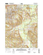 Jamestown New York Current topographic map, 1:24000 scale, 7.5 X 7.5 Minute, Year 2016 from New York Map Store