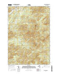 Jay Mountain New York Current topographic map, 1:24000 scale, 7.5 X 7.5 Minute, Year 2016