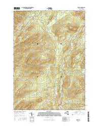 Keene New York Current topographic map, 1:24000 scale, 7.5 X 7.5 Minute, Year 2016