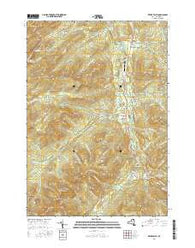 Keene Valley New York Current topographic map, 1:24000 scale, 7.5 X 7.5 Minute, Year 2016