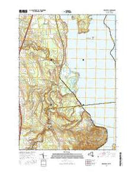 Keeseville New York Current topographic map, 1:24000 scale, 7.5 X 7.5 Minute, Year 2016