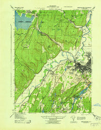 Kingston West New York Historical topographic map, 1:31680 scale, 7.5 X 7.5 Minute, Year 1943