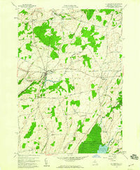 La Fargeville New York Historical topographic map, 1:24000 scale, 7.5 X 7.5 Minute, Year 1958