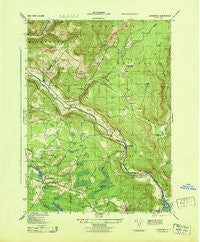 Lackawack New York Historical topographic map, 1:31680 scale, 7.5 X 7.5 Minute, Year 1943