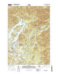 Lake Placid New York Current topographic map, 1:24000 scale, 7.5 X 7.5 Minute, Year 2016