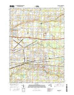 Lancaster New York Current topographic map, 1:24000 scale, 7.5 X 7.5 Minute, Year 2016 from New York Map Store