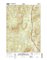 Lewis New York Current topographic map, 1:24000 scale, 7.5 X 7.5 Minute, Year 2016