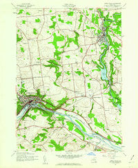 Little Falls New York Historical topographic map, 1:24000 scale, 7.5 X 7.5 Minute, Year 1943