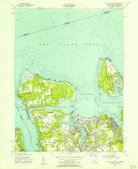 Lloyd Harbor New York Historical topographic map, 1:24000 scale, 7.5 X 7.5 Minute, Year 1954