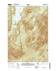 Lyon Mountain New York Current topographic map, 1:24000 scale, 7.5 X 7.5 Minute, Year 2016