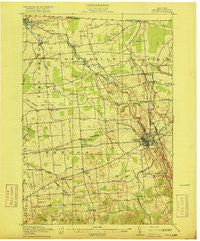 Malone New York Historical topographic map, 1:62500 scale, 15 X 15 Minute, Year 1917