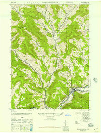 Margaretville New York Historical topographic map, 1:24000 scale, 7.5 X 7.5 Minute, Year 1946