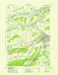 Massena New York Historical topographic map, 1:31680 scale, 7.5 X 7.5 Minute, Year 1943