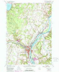 Mechanicville New York Historical topographic map, 1:24000 scale, 7.5 X 7.5 Minute, Year 1954