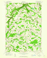 Millers Mills New York Historical topographic map, 1:24000 scale, 7.5 X 7.5 Minute, Year 1943