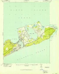 Montauk Point New York Historical topographic map, 1:24000 scale, 7.5 X 7.5 Minute, Year 1942