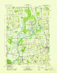 Montezuma New York Historical topographic map, 1:31680 scale, 7.5 X 7.5 Minute, Year 1943