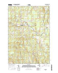 Mooers New York Current topographic map, 1:24000 scale, 7.5 X 7.5 Minute, Year 2016