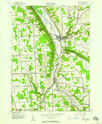 Moravia New York Historical topographic map, 1:24000 scale, 7.5 X 7.5 Minute, Year 1943